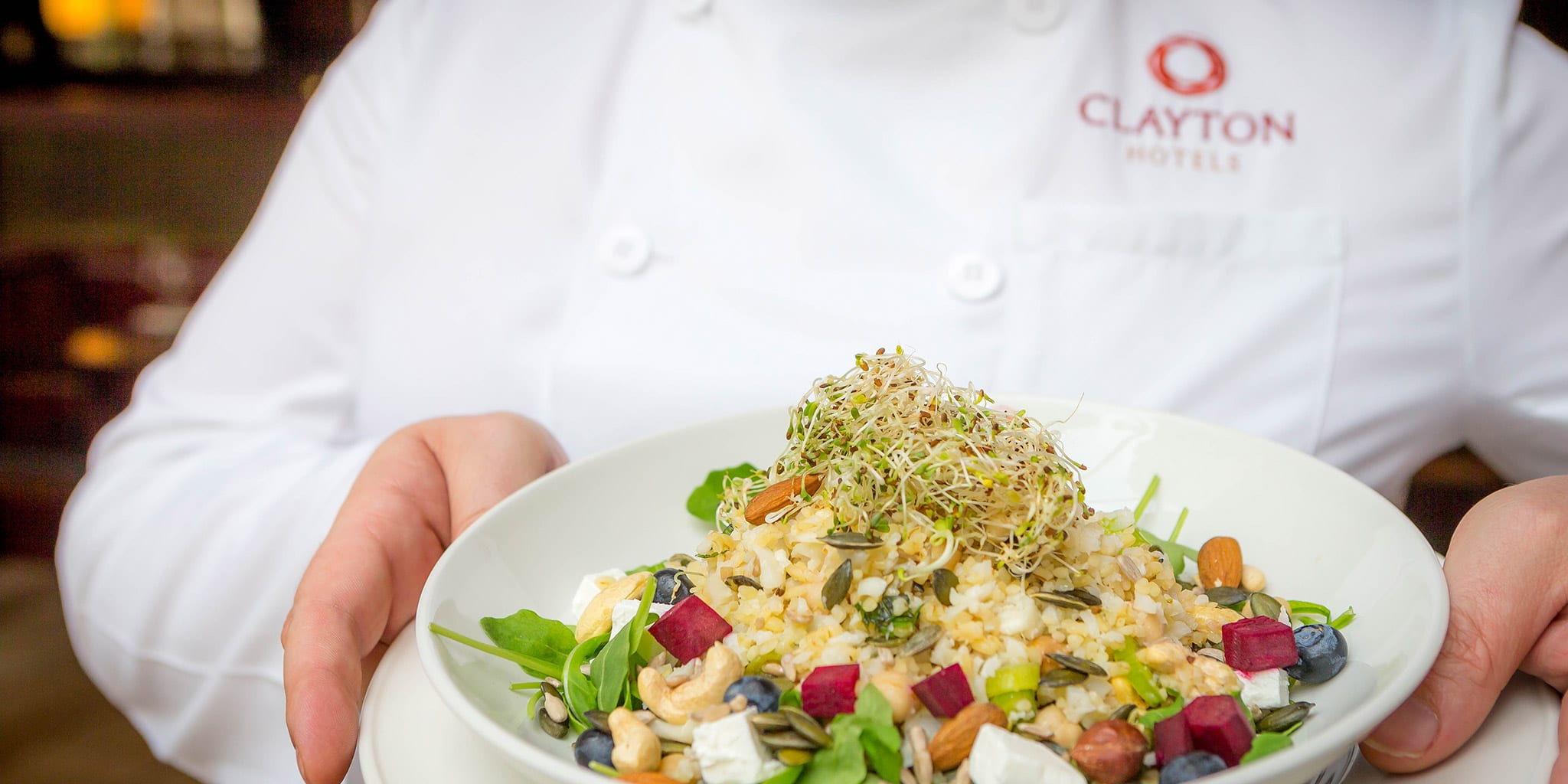 A freshly made salad at the Clayton Hotel Belfast Restaurant