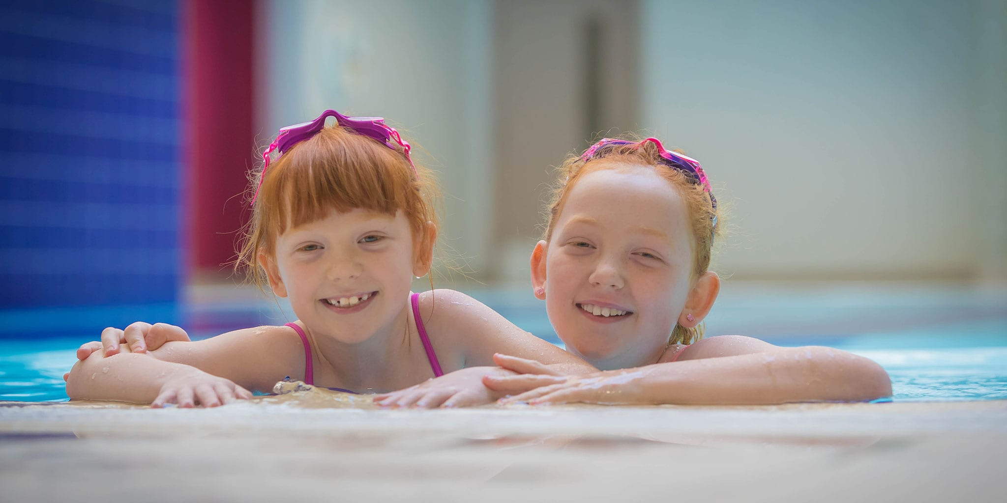 Kids having a nice swim at Clayton Hotel Belfast swimming pool