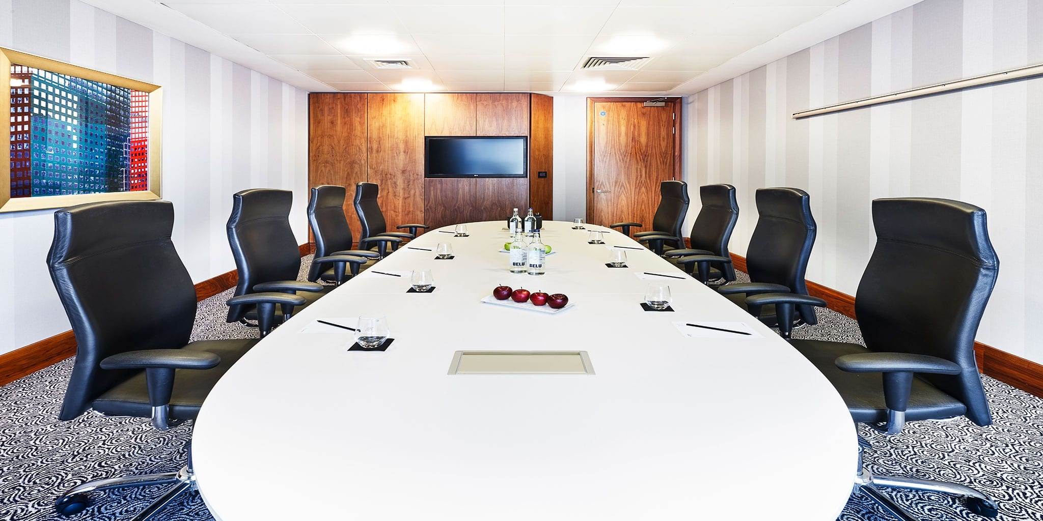 Meeting room in a boardroom style at Clayton Hotel Birmingham
