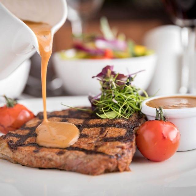 Pepper Steak at Clayton Hotel restaurant in Birmingham