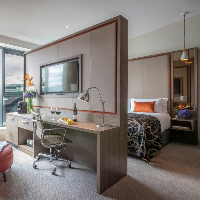 junior suite a clayton hotel bedroom