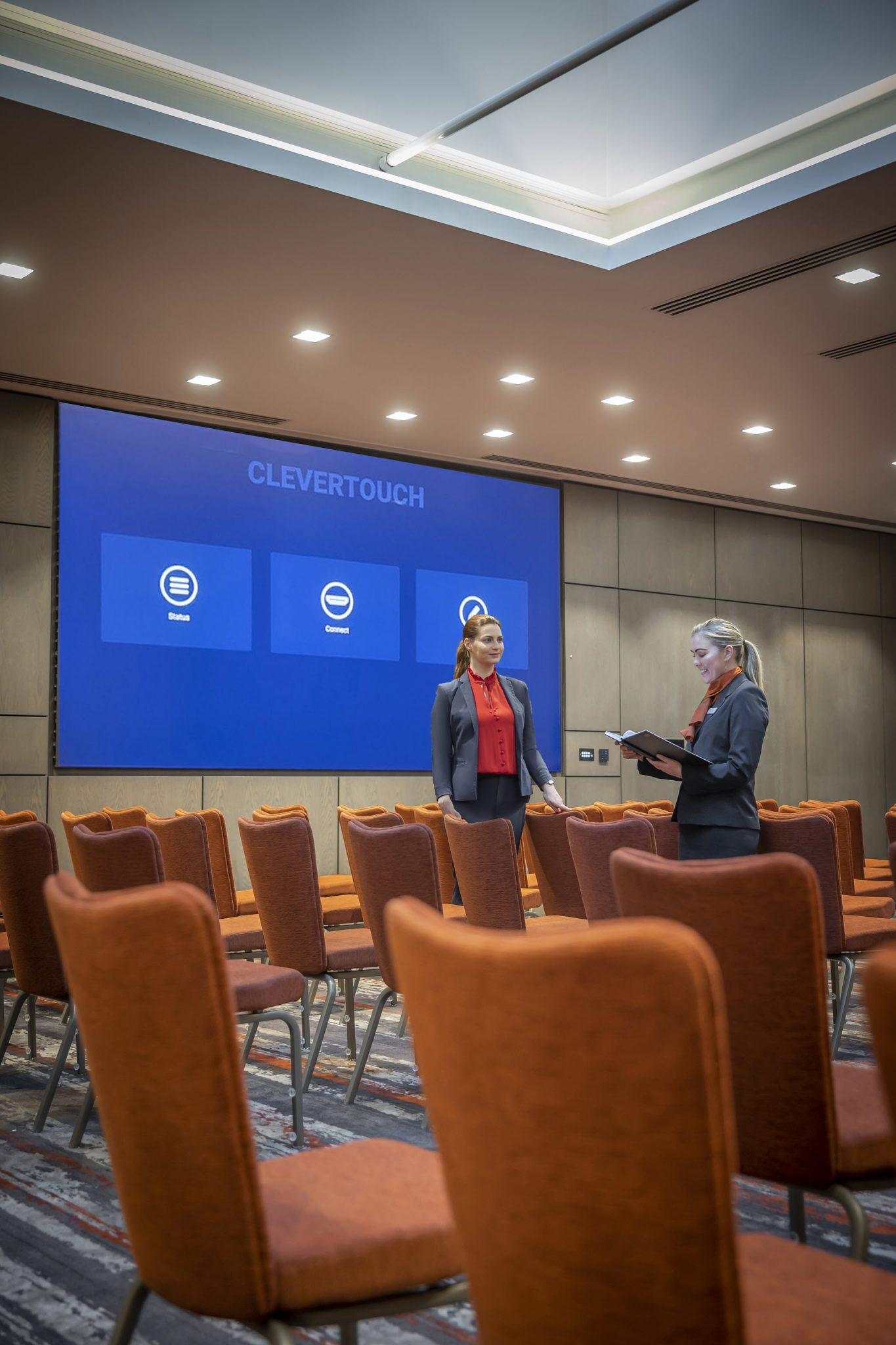 Grand Canal Suite Theatre Set up & Clevertouch Technology -Clayton Cardiff Lane Conference Dublin