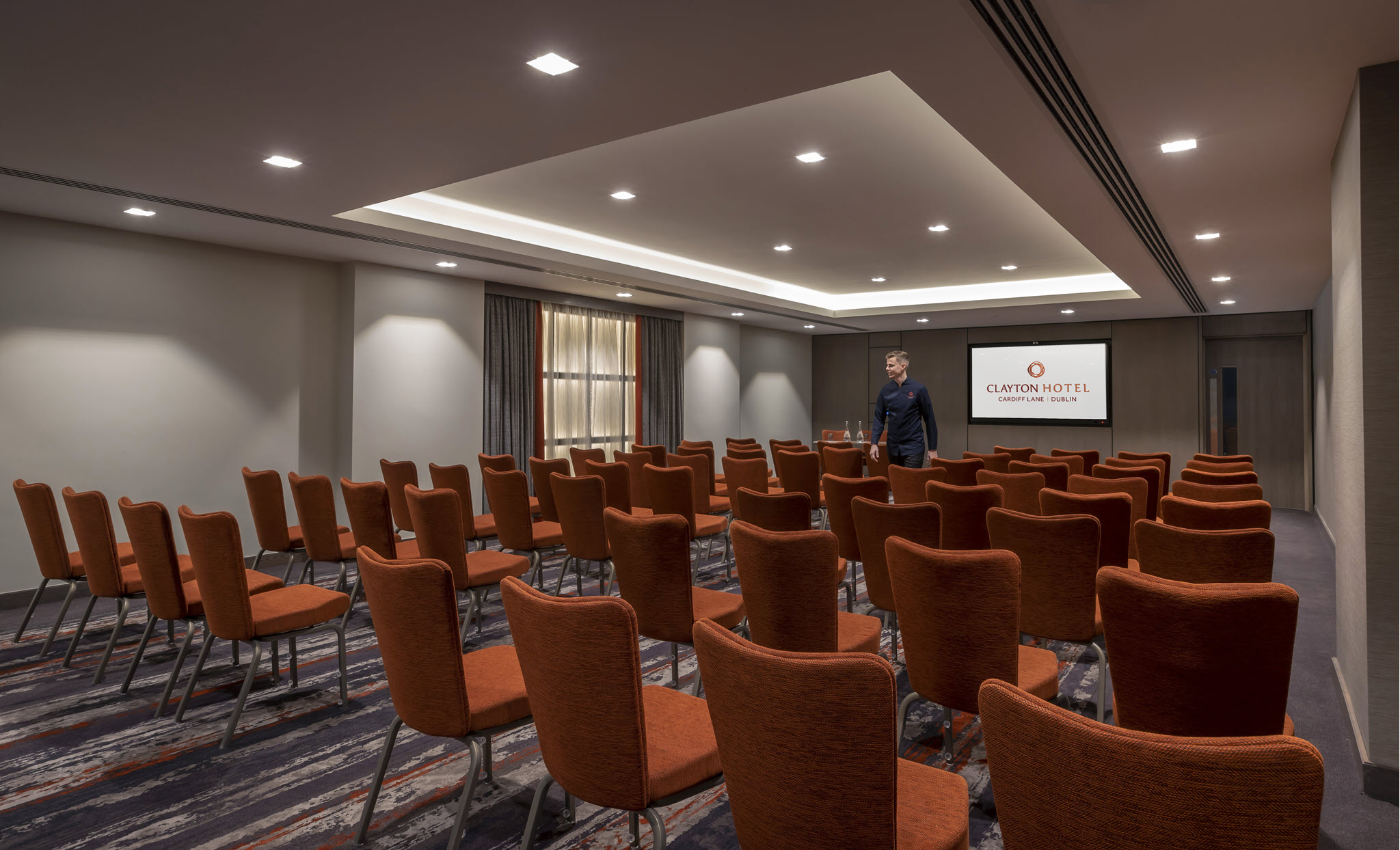 Pearse Suite Theatre Set Up – Clayton Cardiff Lane Conference Dublin