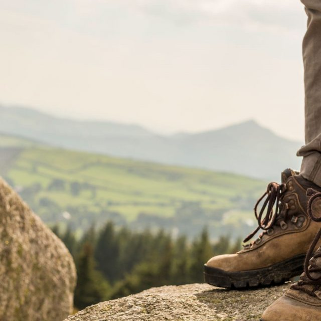 Hiking Boots On Dublin Mountains