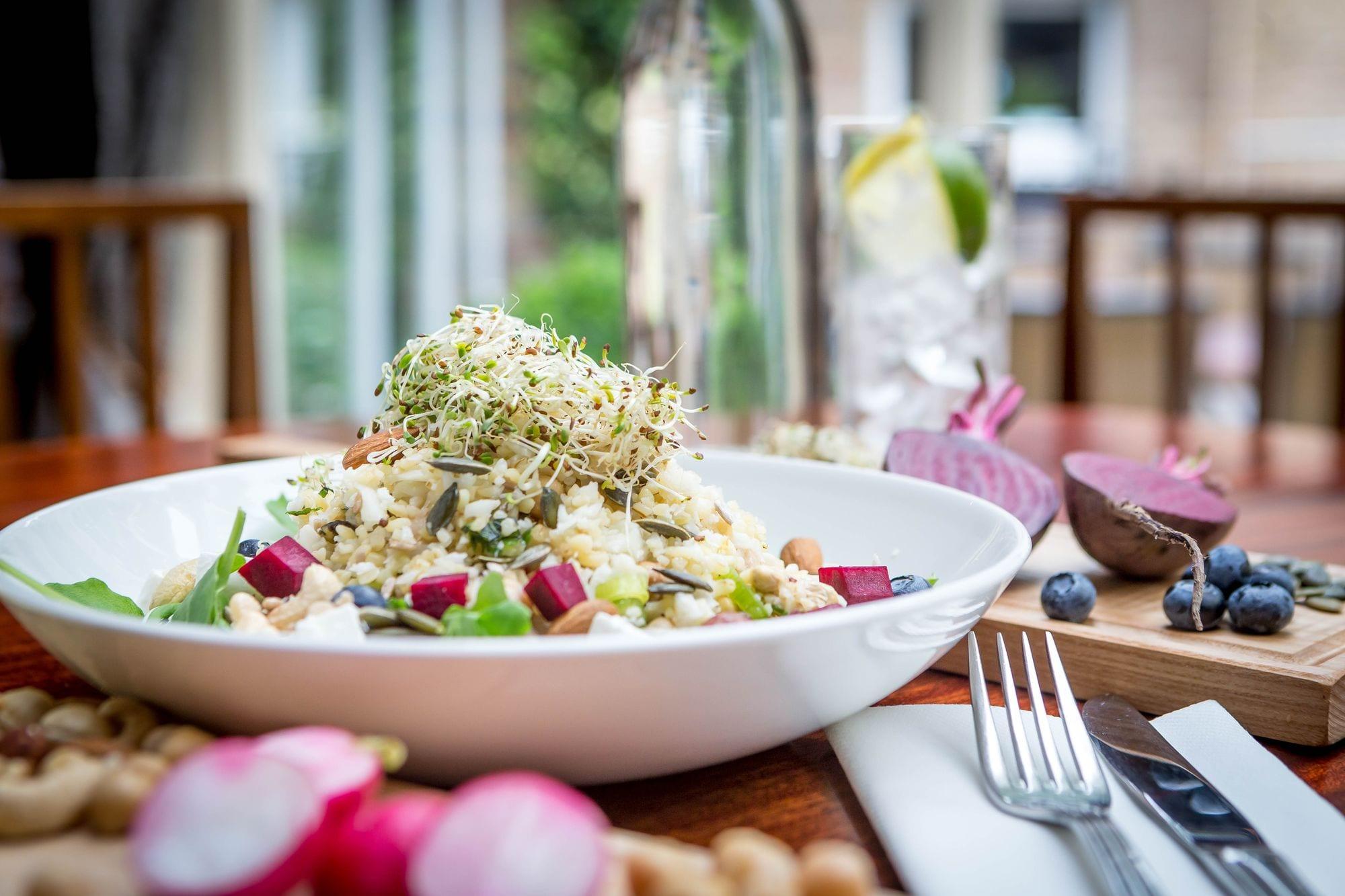 Superfood salad served at Clayton Hotel Liffey Valley