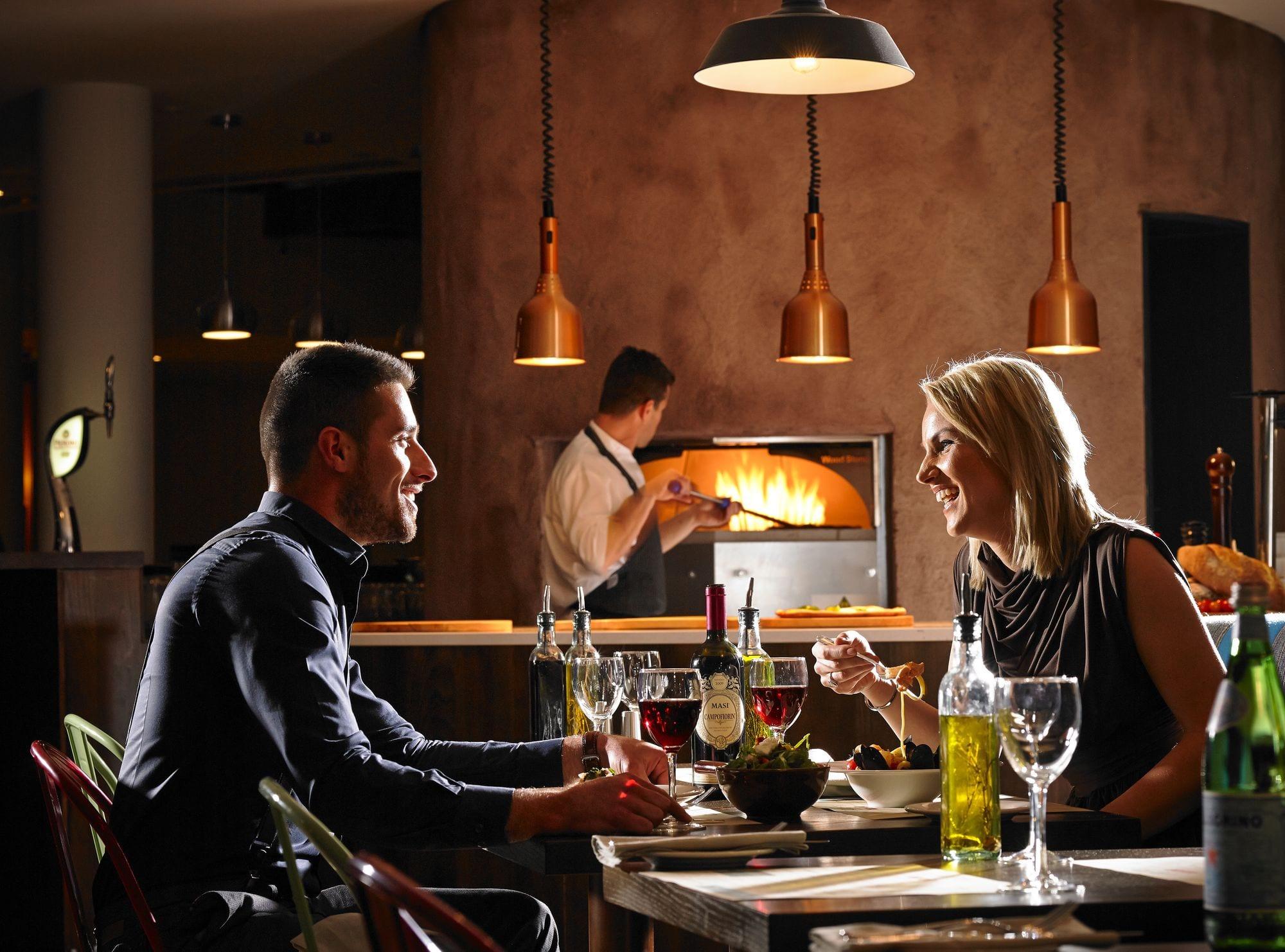 Couple having dinner at Gusto Restaurant