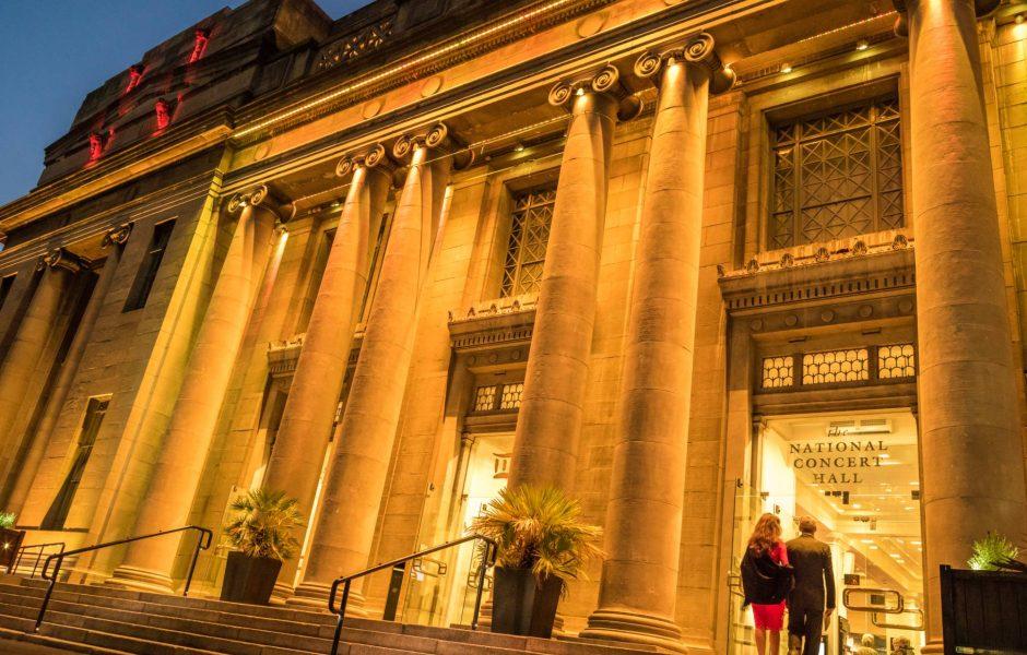 Entrance to the national concert hall Dublin