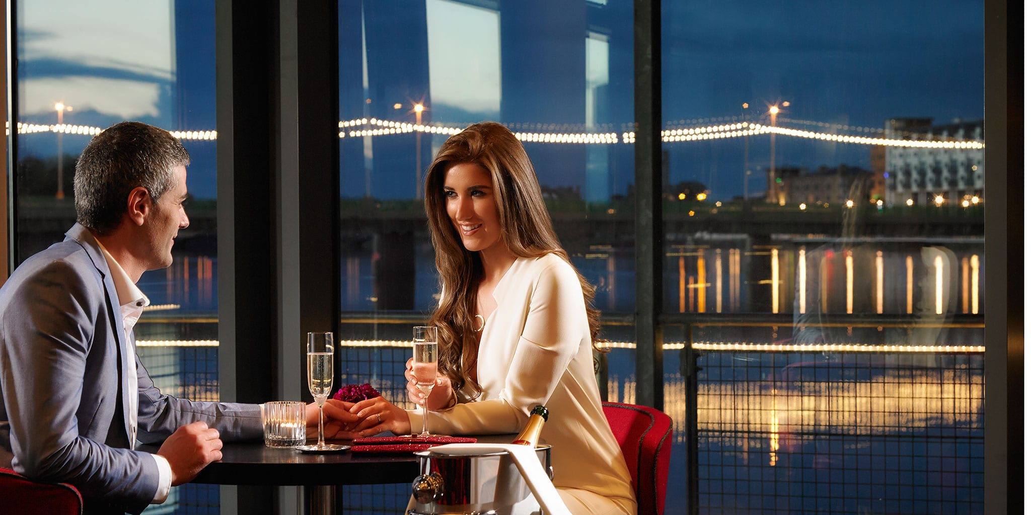 couple-dining-in-Clayton-Hotel-Limerick-riverside-restaurant