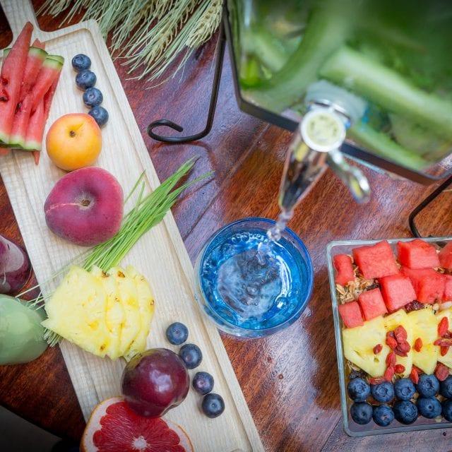 Fresh fruits served in the Vitality Breakfast