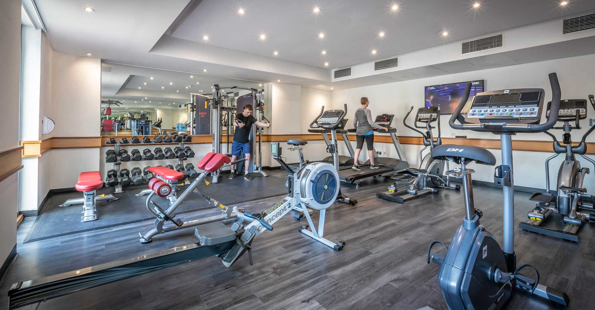 Gym facilities at Clayton Hotel Manchester